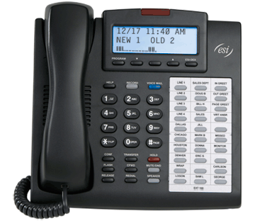 ESI Telephone Systems For Businesses in North and South Carolina - 48-Key_Dig_backlit